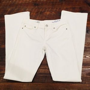 White GAP 1969 Sexy Boot Jeans 25 / 0
